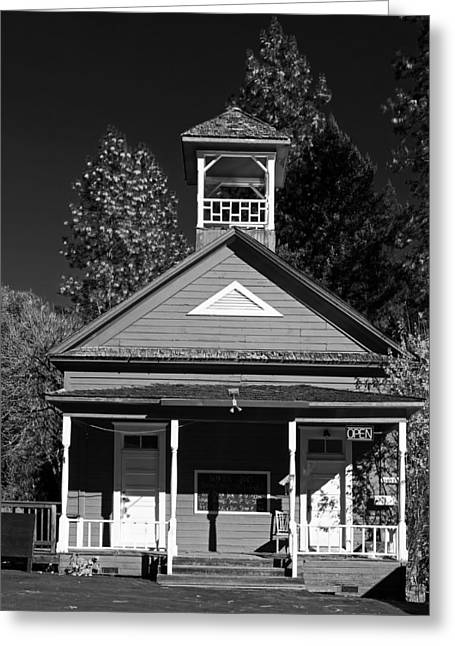 One Room Schoolhouse Greeting Cards - The Red Schoolhouse Greeting Card by Mountain Dreams