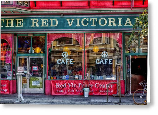 Store Fronts Greeting Cards - The Red Victoria - Haight-Ashbury Greeting Card by Mountain Dreams