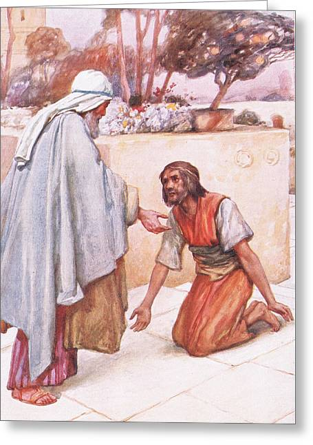 The Return Of The Prodigal Son Greeting Card by Arthur A Dixon