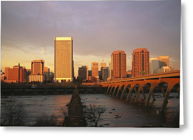 Urban And Suburban Ways Of Life Greeting Cards - The Richmond, Virginia Skyline Greeting Card by Medford Taylor