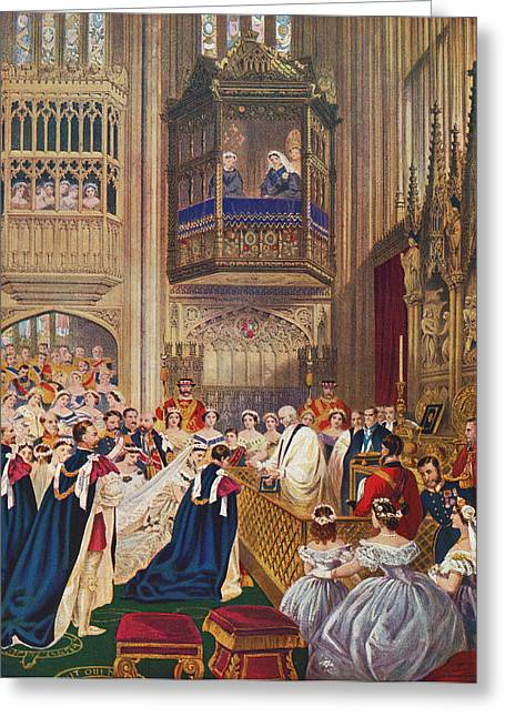 British Royalty Greeting Cards - The Royal Wedding Between Albert Greeting Card by Vintage Design Pics