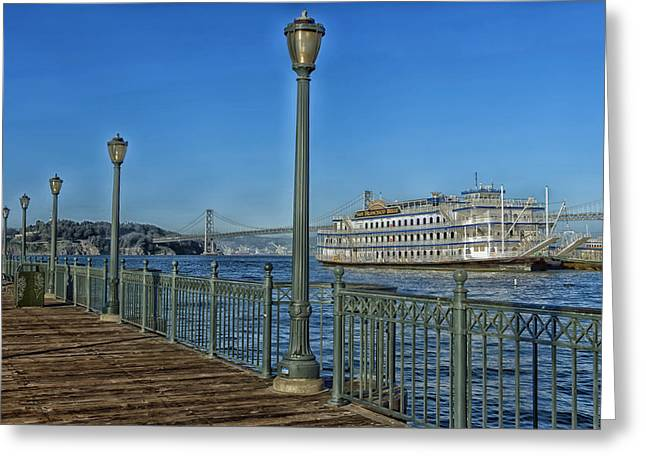 Old Ship Art Greeting Cards - The San Francisco Belle Greeting Card by Mountain Dreams