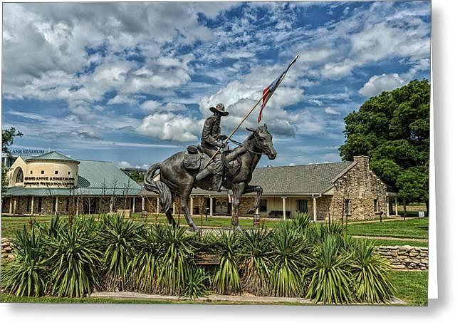 Architecture Sculptures Greeting Cards - The Sculpture Texas Ranger Greeting Card by Mountain Dreams