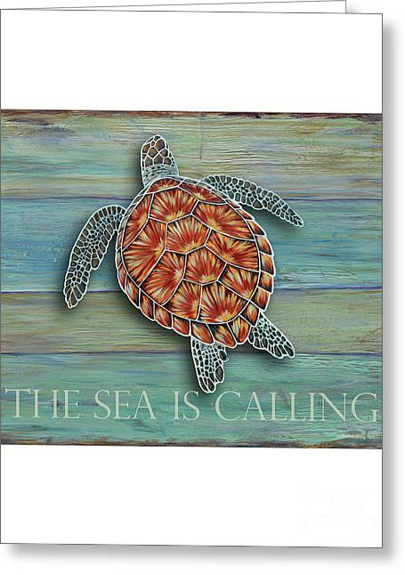 The Sea Is Calling Greeting Card by Danielle Perry