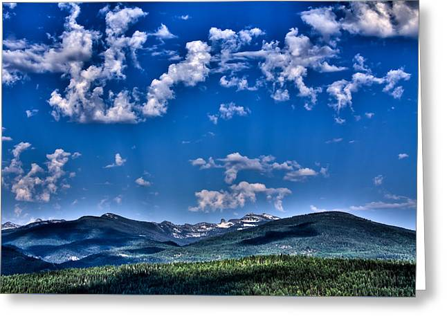 Chimney Rock Greeting Cards - The Selkirk Mountain Range - Priest Lake Greeting Card by David Patterson