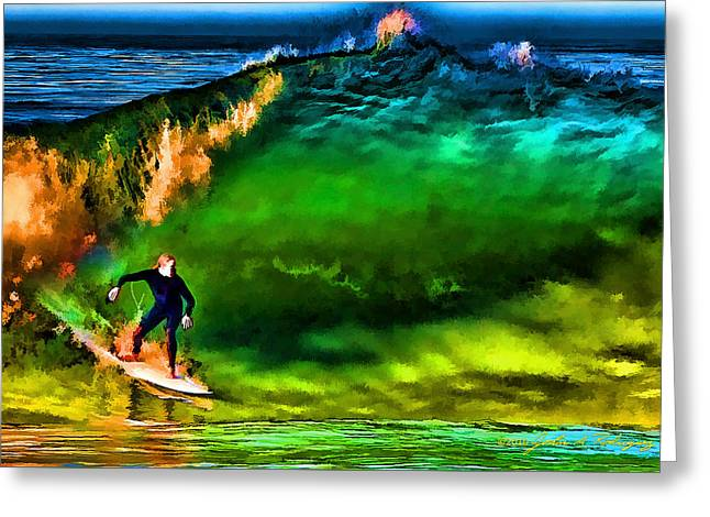 Ventura California Greeting Cards - The Shadow Within Greeting Card by John A Rodriguez