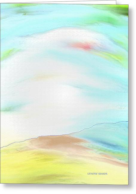 Grey Clouds Greeting Cards - The Sky Greeting Card by Lenore Senior