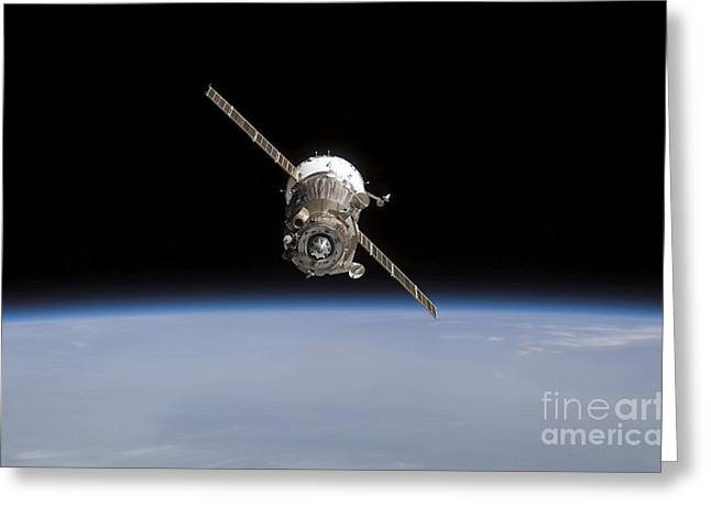 Blue Planet Greeting Cards - The Soyuz Tma-11 Spacecraft Greeting Card by Stocktrek Images