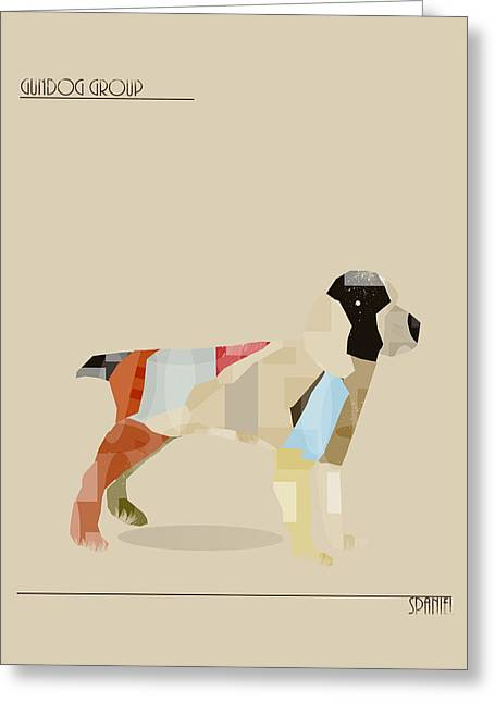 Spaniel Digital Art Greeting Cards - The Spaniel Greeting Card by Bri Buckley