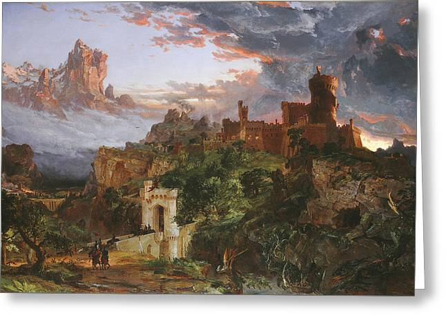 The Spirit Of War Greeting Card by Jasper Francis Cropsey