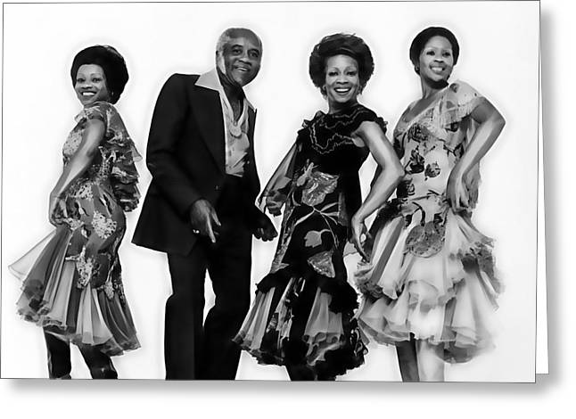 Staples Mixed Media Greeting Cards - The Staple Singers Collection Greeting Card by Marvin Blaine