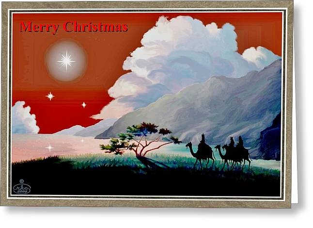Jesus With A Child Greeting Cards - The Star of Bethlehem Greeting Card by Ronald Chambers