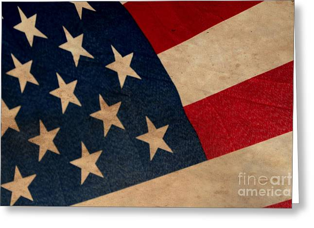 Flag Of Usa Greeting Cards - The Stars and Stripes Greeting Card by Amy Steeples