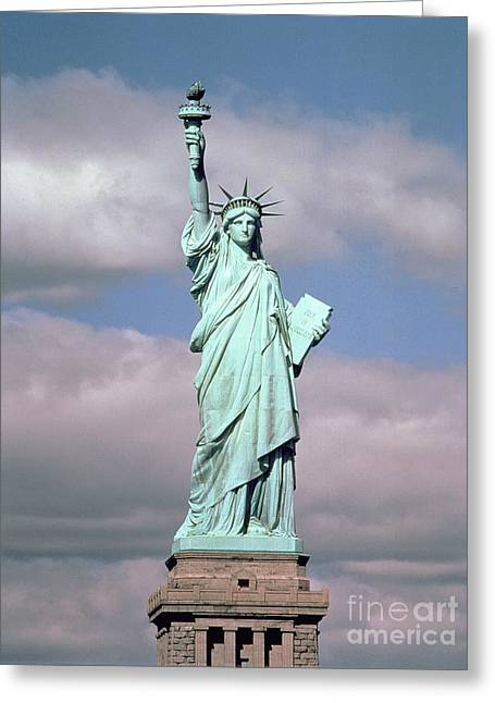 1834 Greeting Cards - The Statue of Liberty Greeting Card by American School