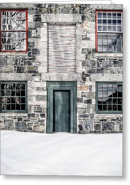 Barn Door Greeting Cards - The Stone Mill Enfield NH Greeting Card by Edward Fielding