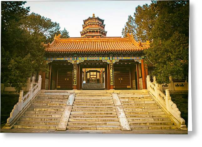 Front Steps Greeting Cards - The Summer Palace - Beijing Greeting Card by Travel Coffee Book