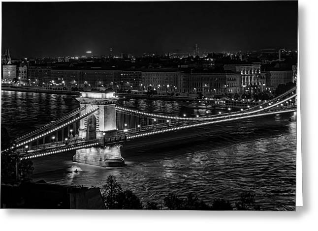Famous Bridge Greeting Cards - The Szechenyi Chain Bridge - Budapest Greeting Card by The Photographer