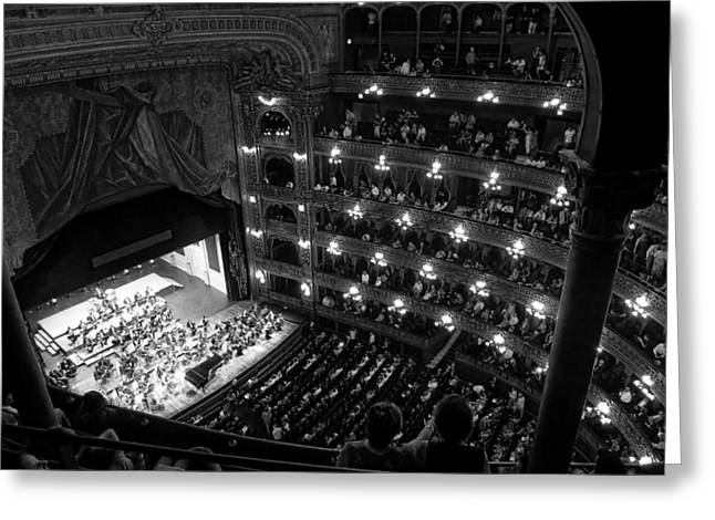 Buenos Aires Art Greeting Cards - The Teatro Colon - Buenos Aires Greeting Card by Travel Coffee Book