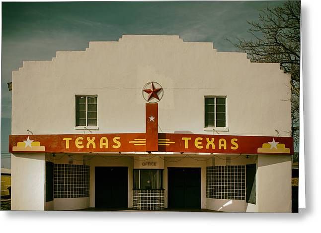 Theater Greeting Cards - The Texas Theatre of Bronte Texas Greeting Card by Mountain Dreams