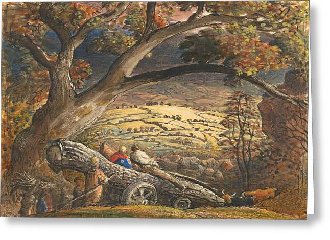 The Timber Wain Greeting Card by Samuel Palmer