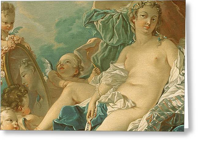 The Toilet Of Venus Greeting Card by Francois Boucher