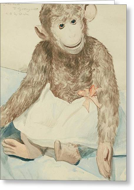The Toy Monkey Greeting Card by MotionAge Designs