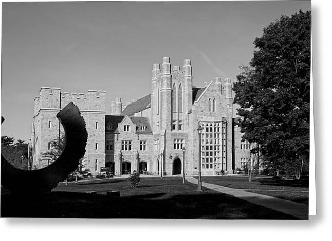 Campus Sculptures Greeting Cards - The University of Connecticut Law School Greeting Card by Mountain Dreams