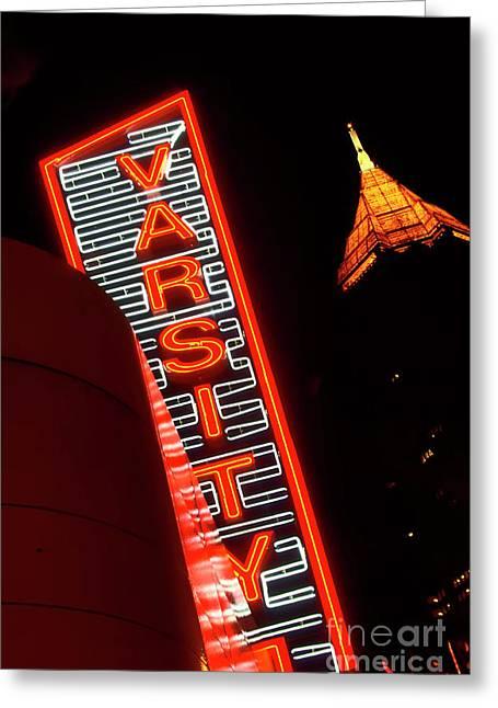 Photographers Fayette Greeting Cards - The Varsity Atlanta Greeting Card by Corky Willis Atlanta Photography