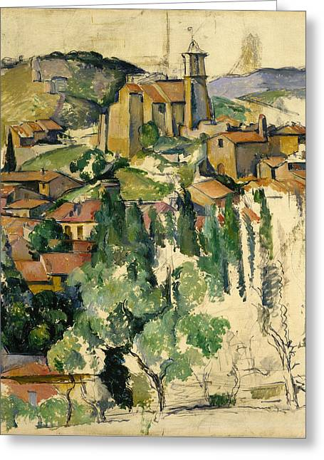 The Village Of Gardanne  Greeting Card by Paul Cezanne