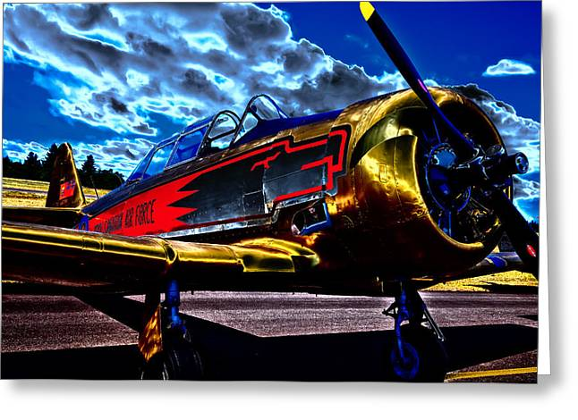Plane Radial Engine Greeting Cards - The Vintage North American T-6 Texan Greeting Card by David Patterson