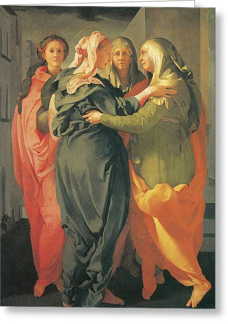 The Visitation Greeting Card by Jacopo Da Pontormo