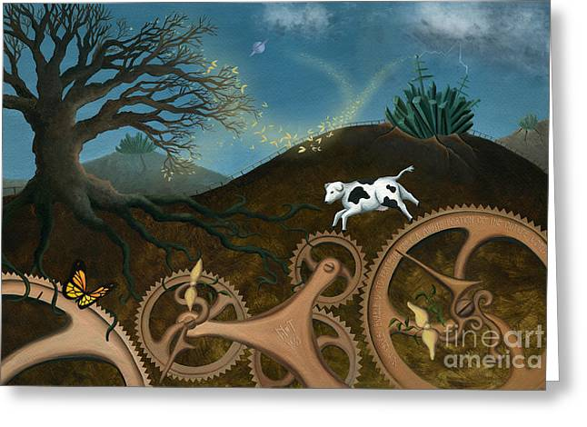 Cog Paintings Greeting Cards - The Volunteers Greeting Card by Denise M Cassano