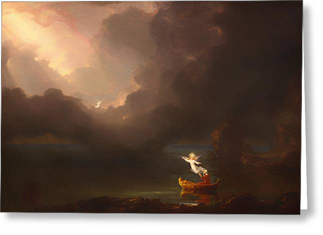 The Voyage Of Life - Old Age Greeting Card by Thomas Cole