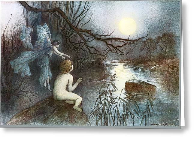Warwick Paintings Greeting Cards - The Water Babies Greeting Card by Warwick Goble
