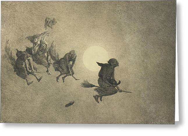 The Witches' Ride Greeting Card by William Holbrook Beard