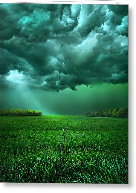 Summer Storm Greeting Cards - There Came a Wind Greeting Card by Phil Koch