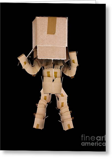 Cardboard Greeting Cards - Think outside the box concept Greeting Card by Simon Bratt Photography LRPS