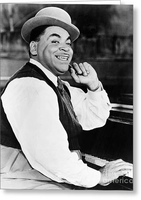 Bandleader Greeting Cards - Thomas Fats Waller Greeting Card by Granger