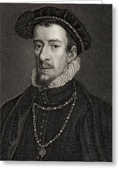 4th Drawings Greeting Cards - Thomas Howard, 4th Duke Of Norfolk Greeting Card by Ken Welsh