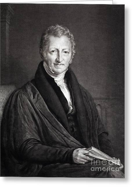 Famine Greeting Cards - Thomas Malthus, British Cleric Greeting Card by Paul D. Stewart