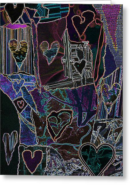 Thought Of Love Greeting Card by Kenneth James