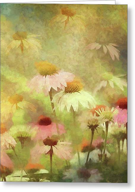 Thoughts Of Flowers Greeting Card by Theresa Campbell