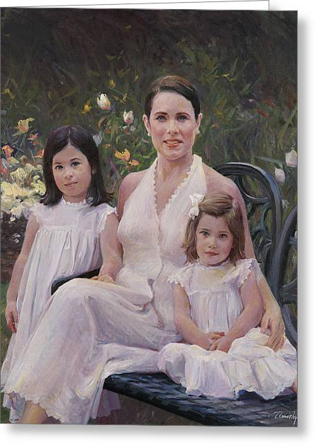 Timothy Chambers Greeting Cards - Three-quarter Group Portrait Greeting Card by Timothy Chambers