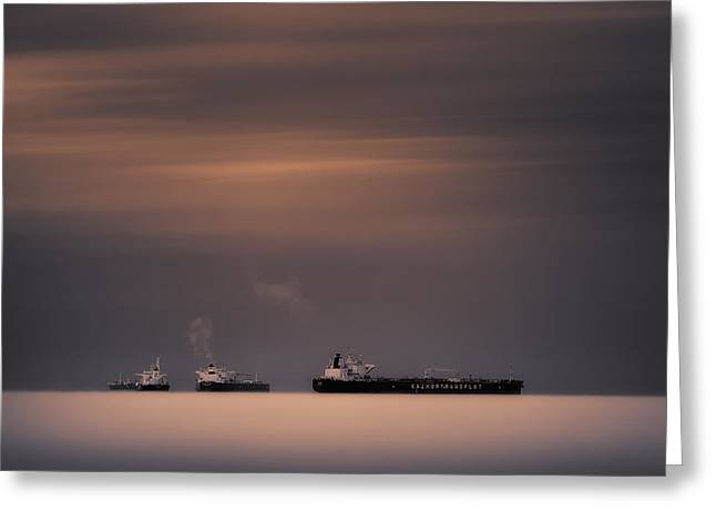 Boat Greeting Cards - Three Sisters Greeting Card by Giulio Zanni