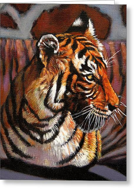 Bengal Greeting Cards - Tiger Greeting Card by John Lautermilch