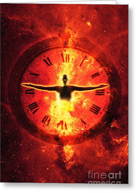 Time And Space Greeting Cards - Time Greeting Card by George Mattei