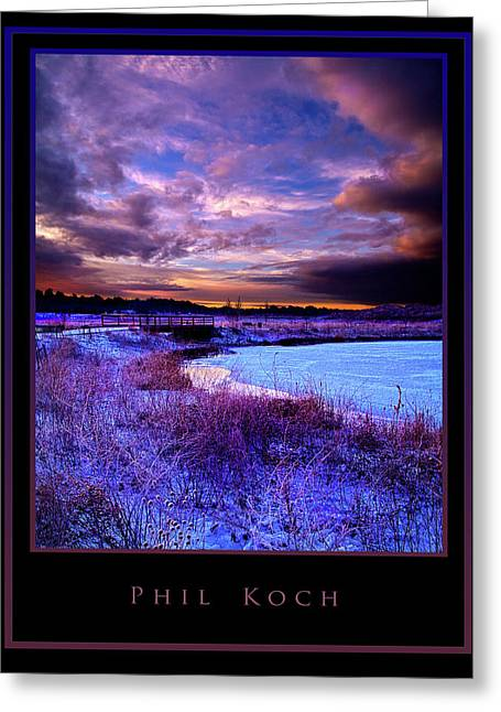 Inspirational Poster Greeting Cards - Timeless Greeting Card by Phil Koch