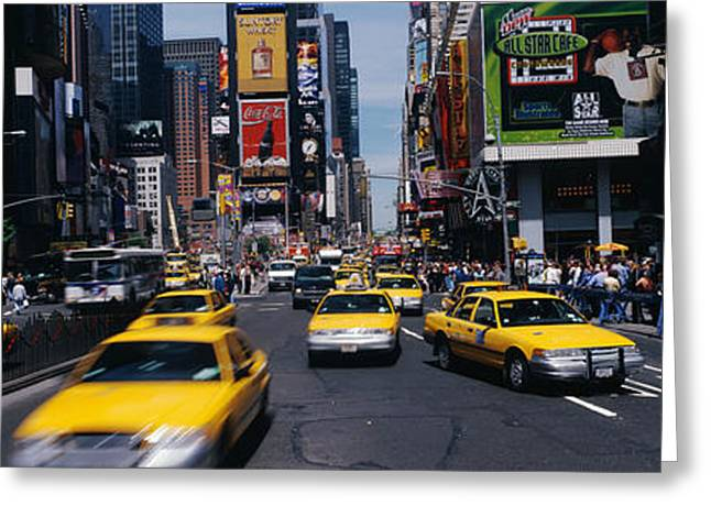 Business Movement Greeting Cards - Times Square New York Ny Greeting Card by Panoramic Images
