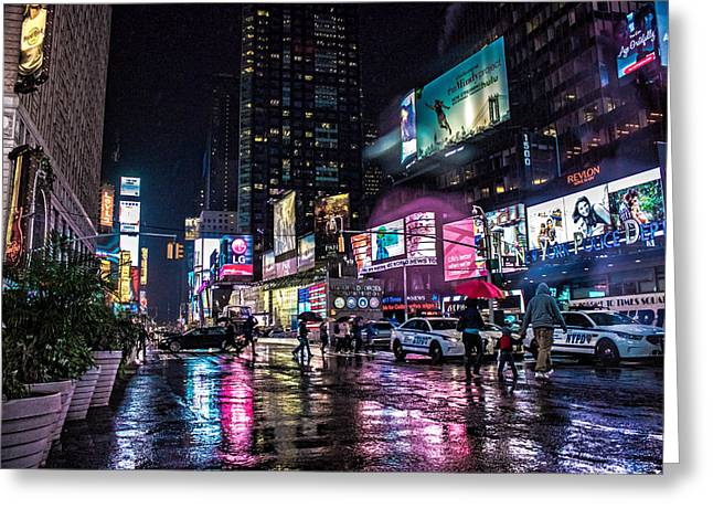 Times Square Nyc Greeting Card by Martin Newman