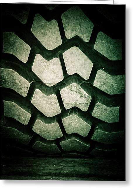 Michelin Greeting Cards - Tire Tread Pattern Art Greeting Card by Roland Keates
